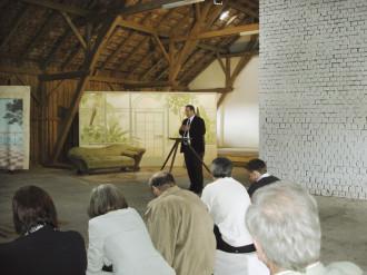 Vortragsatmosphäre auf dem BÖDLHOF - im 1. Stock des Kuhstalls